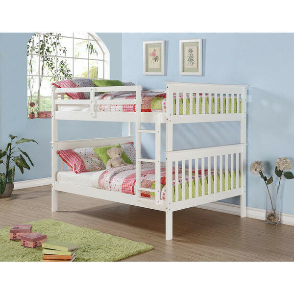Full Over Full Bunk Beds With Optional Storage Drawers Or