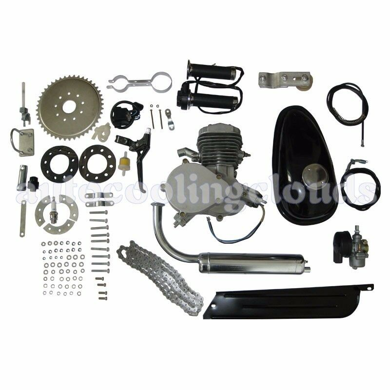 80cc 2 Stroke Cycle Gas Motorized Bicycle Kit Bike Petrol