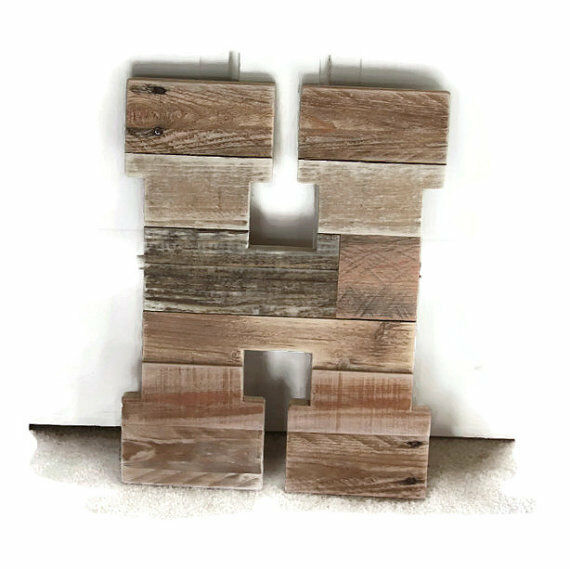 Rustic wood letters rustic wedding pallet letters nursery for 16 wooden letters