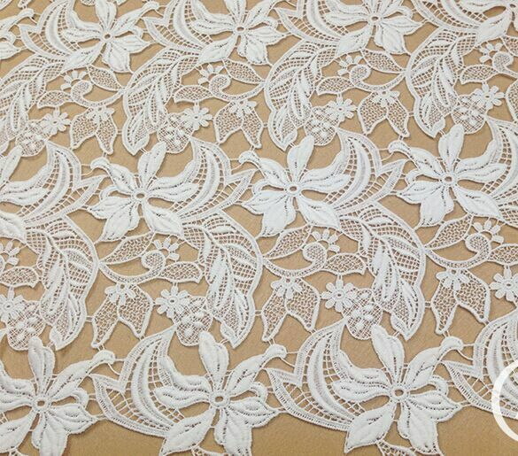 Floral Bridal Dress Diy Lace Fabric Guipure Embroidery