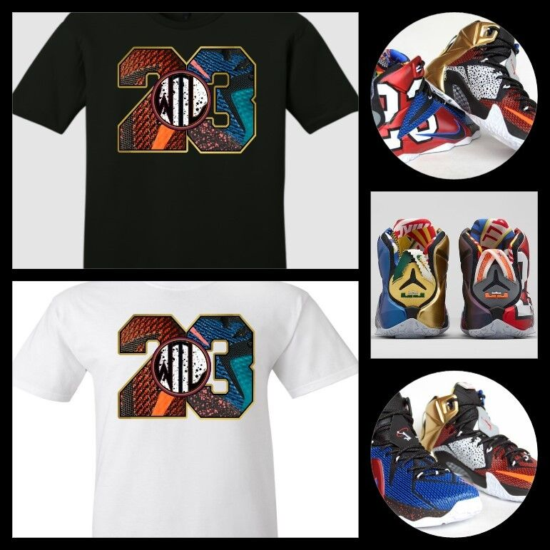 exclusive tee shirt to match the nike lebron 12 what the