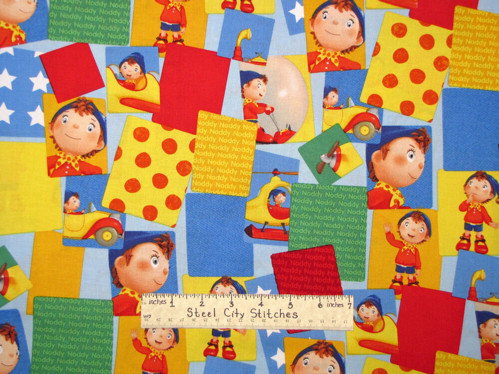 Noddy little boy character patch multicolor kids fun for Kids character fabric