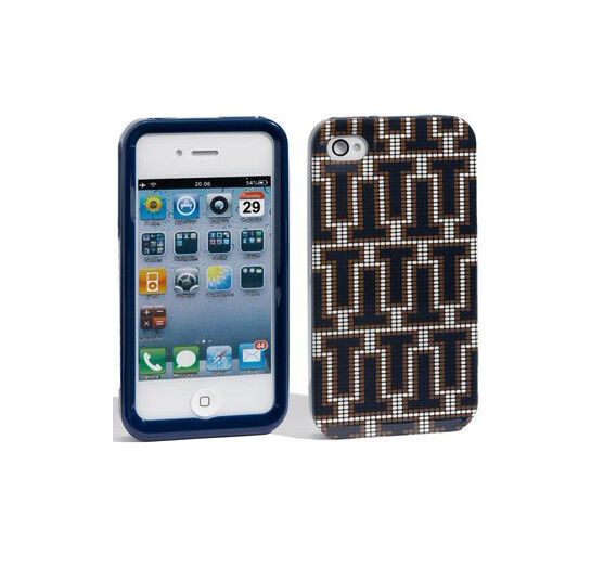 Case Design tory burch cell phone cases : Tory Burch iPhone 4 4s Hardshell Case Logo T Navy Blue BRAND NEW ...