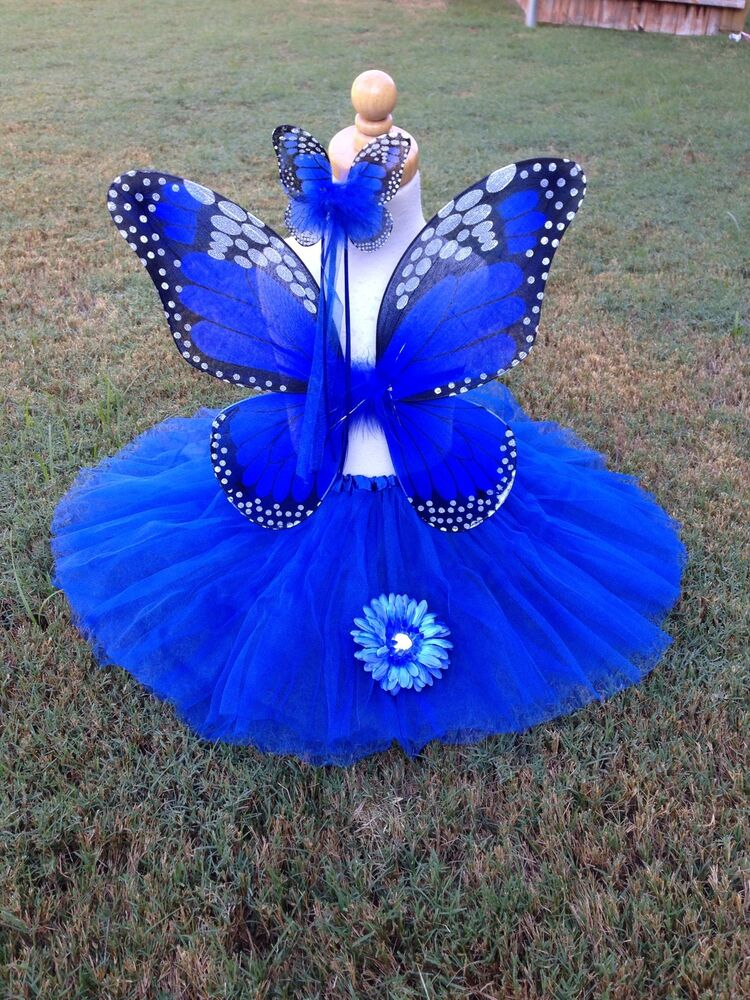 Monarch Butterfly Costume Wings Wand Tutu Clip Halloween