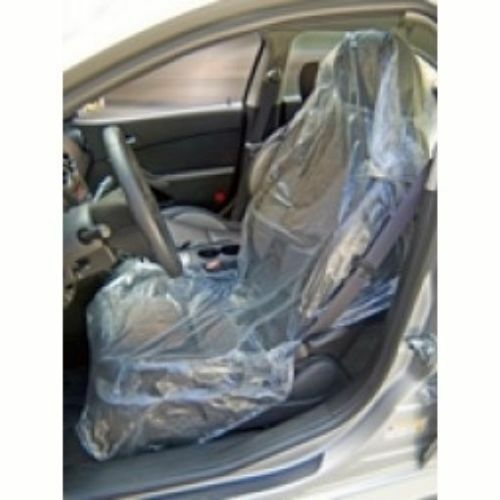 500 Disposable Seat Covers Clear Film Non Slip Truck Or
