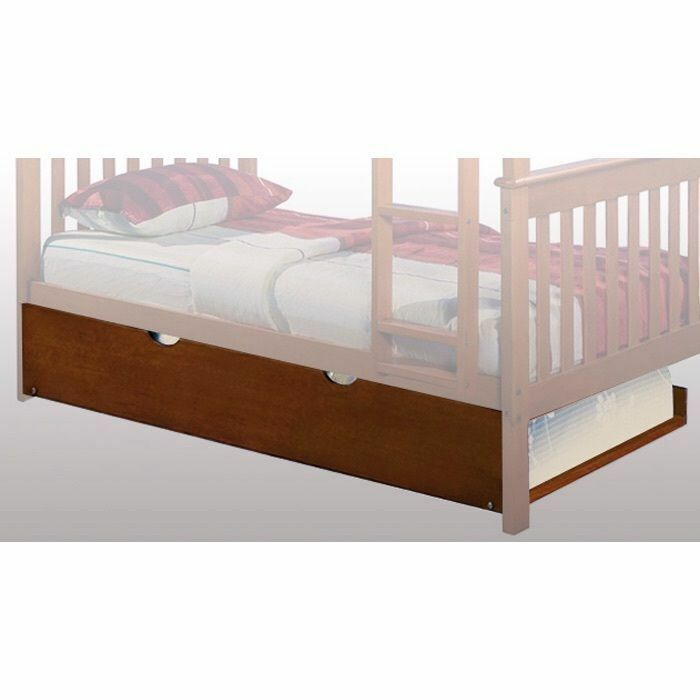 Wooden Twin Trundle Or Dual Under Bed Storage Drawers