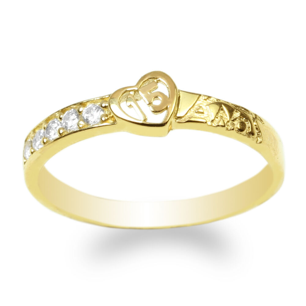 Yellow Gold Plated Sterling Silver Ring