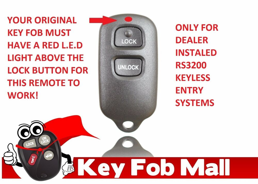 new keyless entry key fob remote for a 2006 toyota corolla free program inst ebay. Black Bedroom Furniture Sets. Home Design Ideas