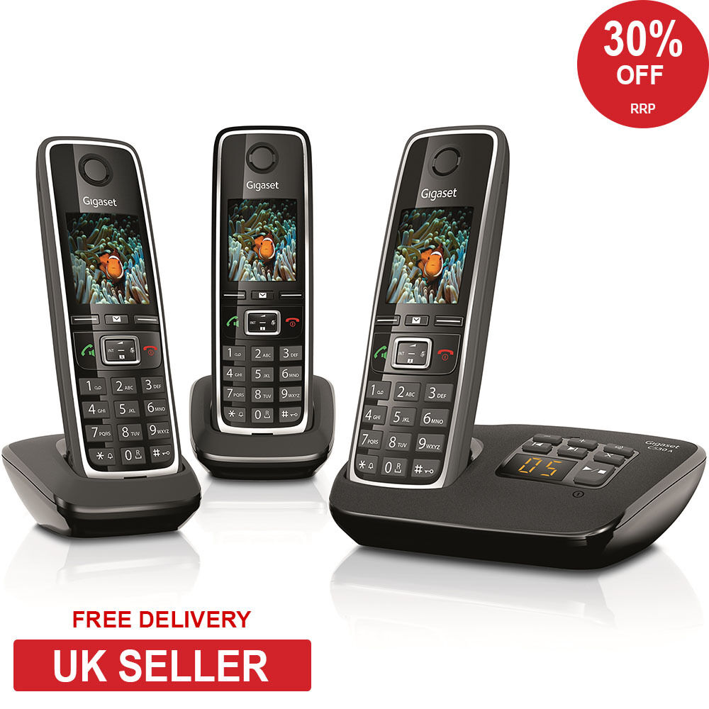 siemens gigaset c530a trio dect cordless phone with answerphone ebay. Black Bedroom Furniture Sets. Home Design Ideas