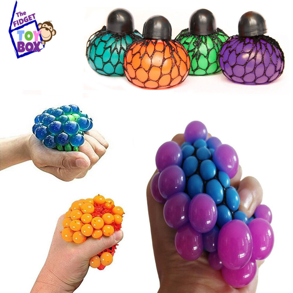 Toy For Adhd People : Quot neon mesh stress ball sensory hand fidget toy box