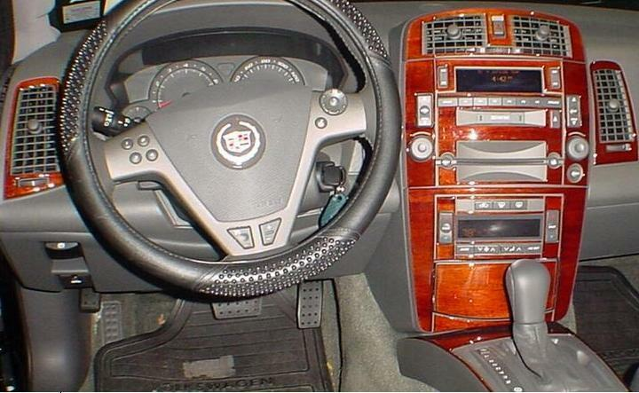cadillac srx sport interior burl wood dash trim kit set 2007 07 2008 08 2009 09 ebay. Black Bedroom Furniture Sets. Home Design Ideas