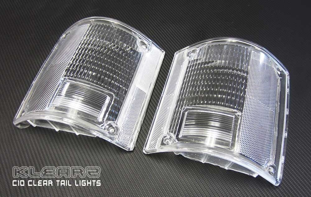 1973 1987 Chevy C20 Pickup Truck Clear Tail Light Lenses