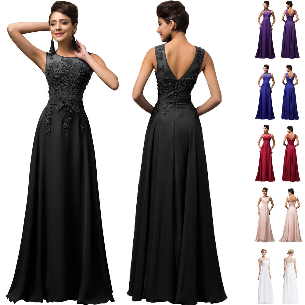 10579ae975 Details about UK Plus Size 20-26 Wedding FORMAL evening Masquerade Ball Gown  long prom dresses