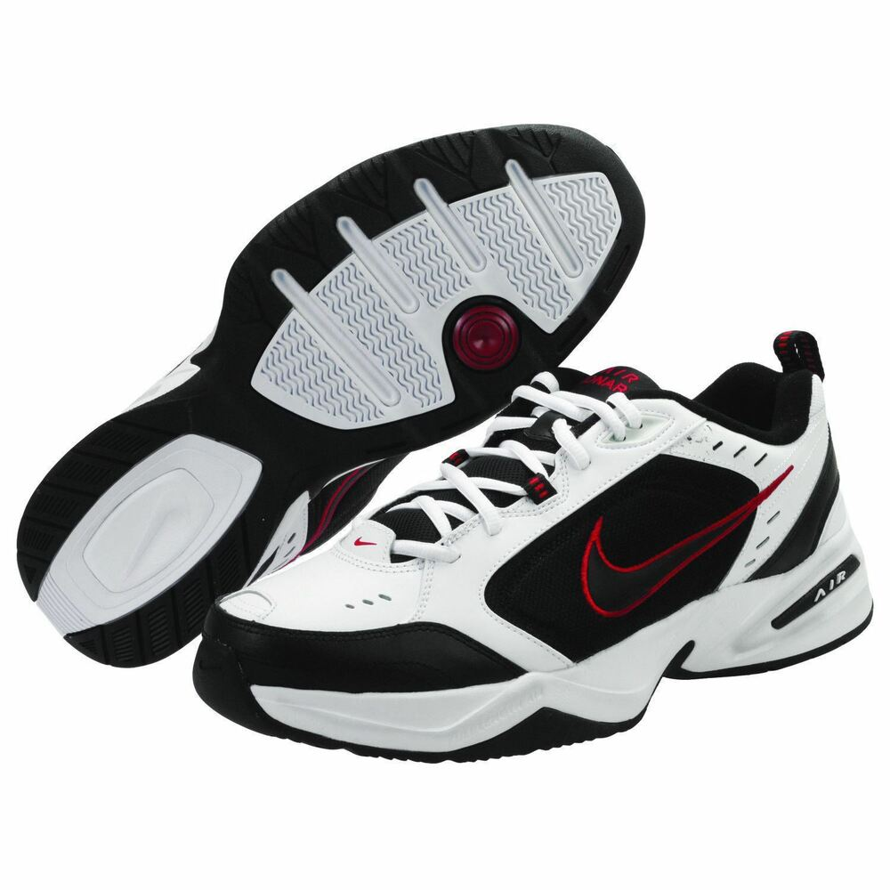 Nike Air Monarch Iv Mens White Black Red 101 Lace Up