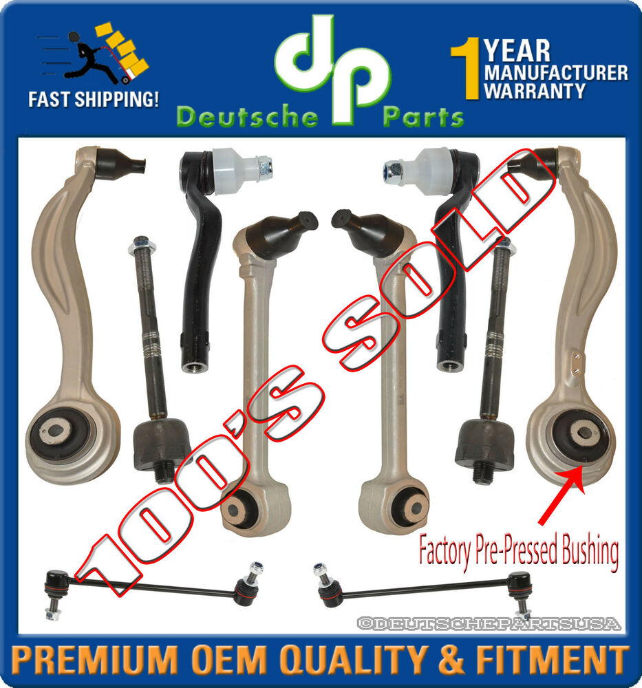 Front upper lower control arm arms tie rod rods mercedes for Suspension rond