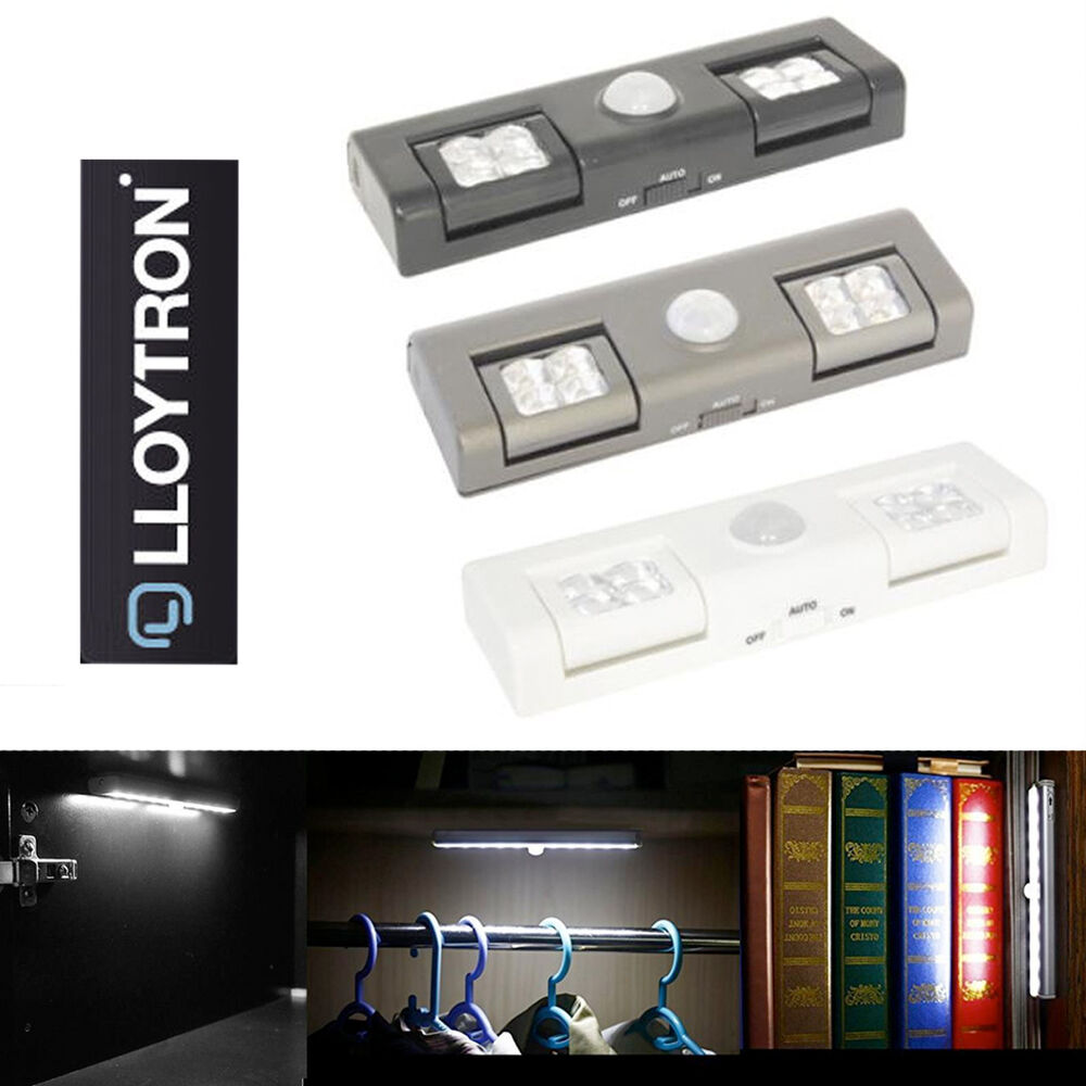 8 led motion sensor cupboard sensor lights pir bedroom
