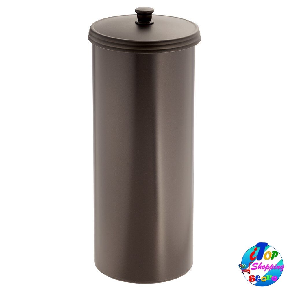tissue paper storage holder roll reserve toilet canister bathroom d cor bronze ebay. Black Bedroom Furniture Sets. Home Design Ideas
