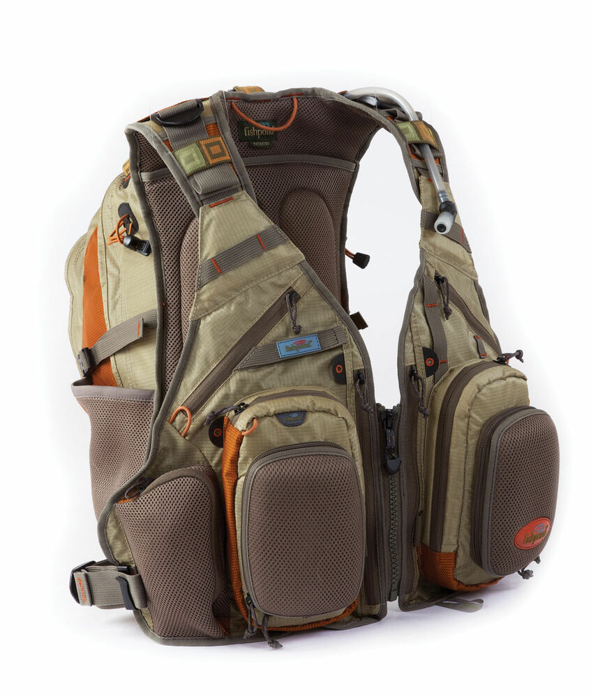 New fishpond wildhorse fly fishing vest backpack driftwood for Fly fishing backpack