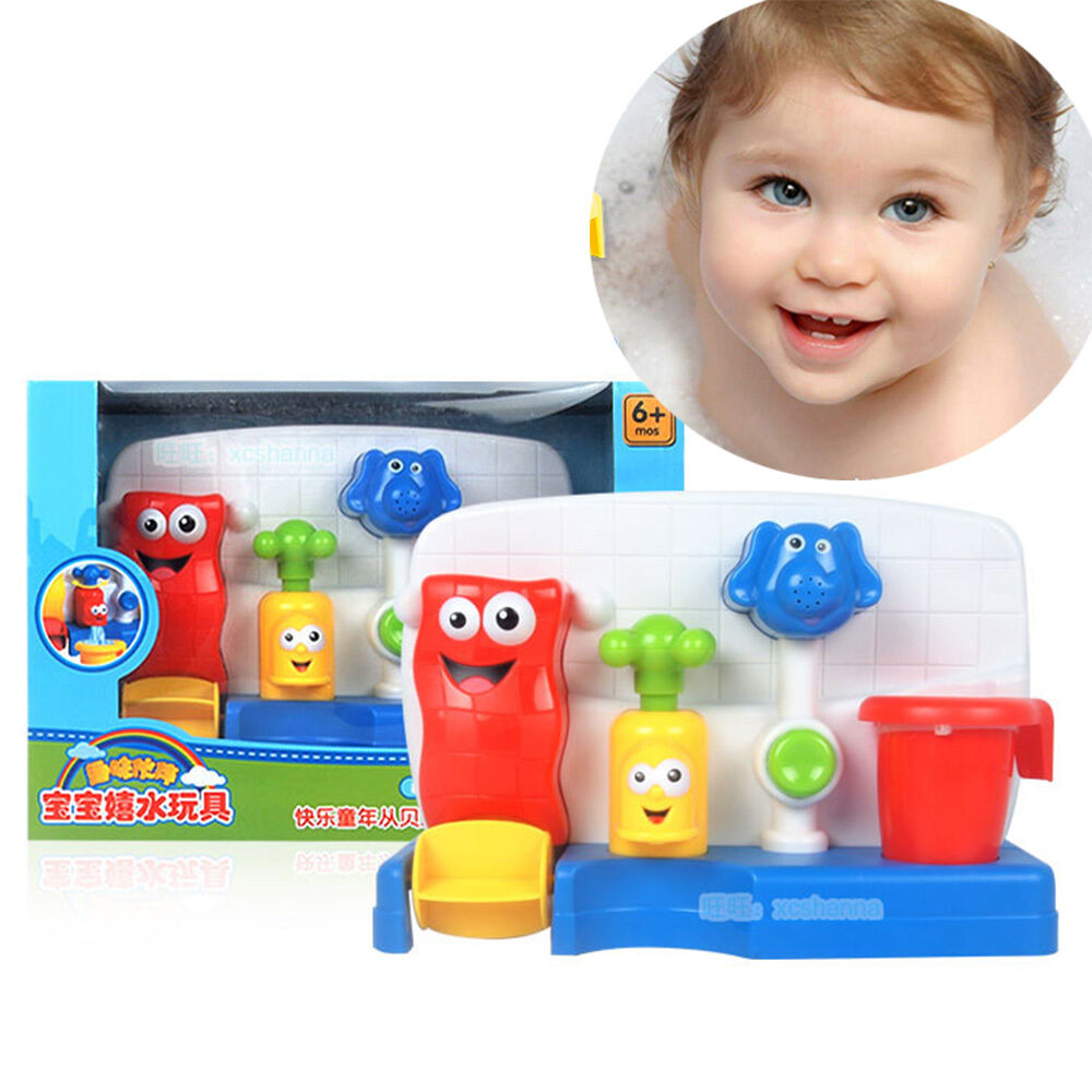 Fun Time Toys : Children kids baby bath time toys learning fun tap flow