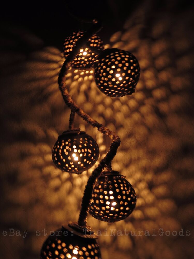 New Wooden Hanging Lamp Made Of Coconut Shell