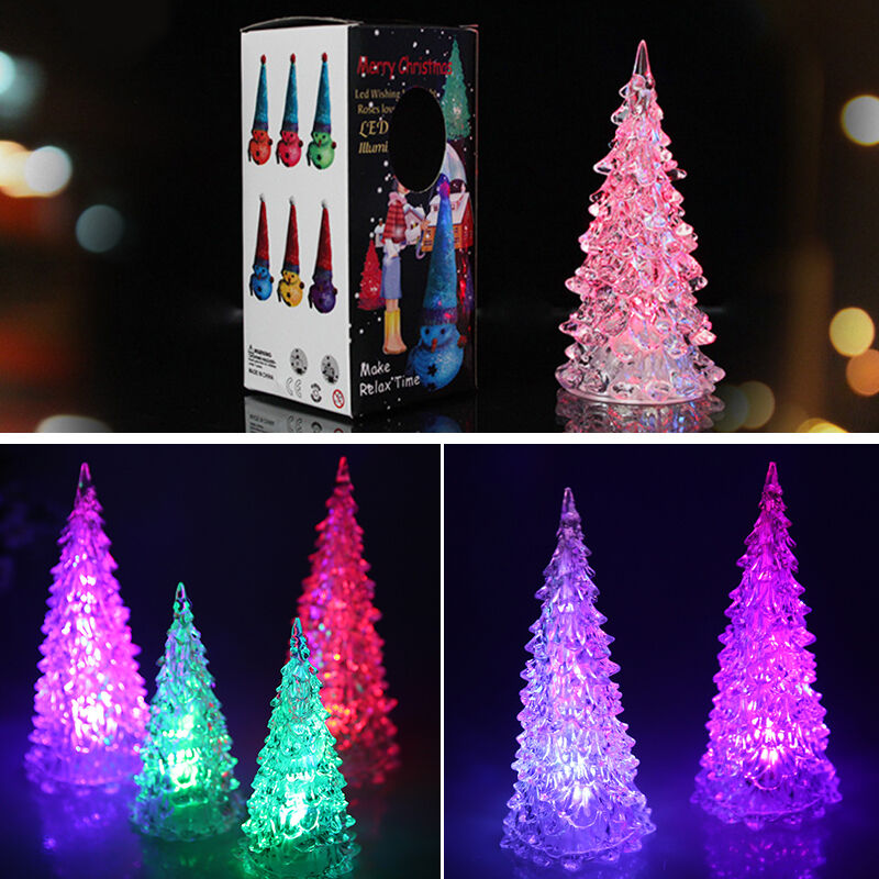 mini lcy crystal color changing led lamp light decoration christmas tree gift fs ebay. Black Bedroom Furniture Sets. Home Design Ideas