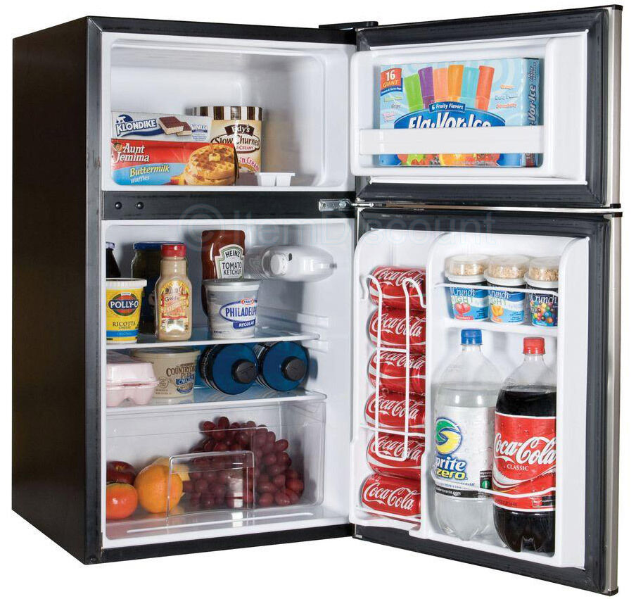 3 2 top freezer compact refrigerator small mini dorm for 0 1 couch to fridge