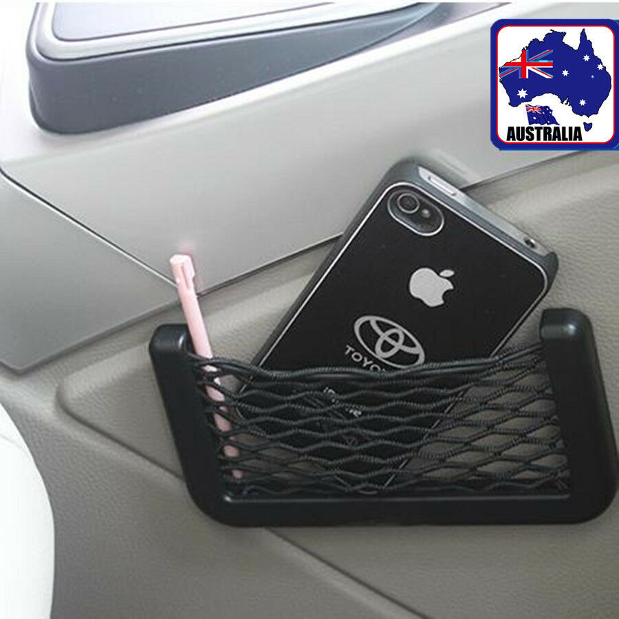 universal car organizer seat back storage net bag phone holder pocket vpouc 1285 ebay. Black Bedroom Furniture Sets. Home Design Ideas