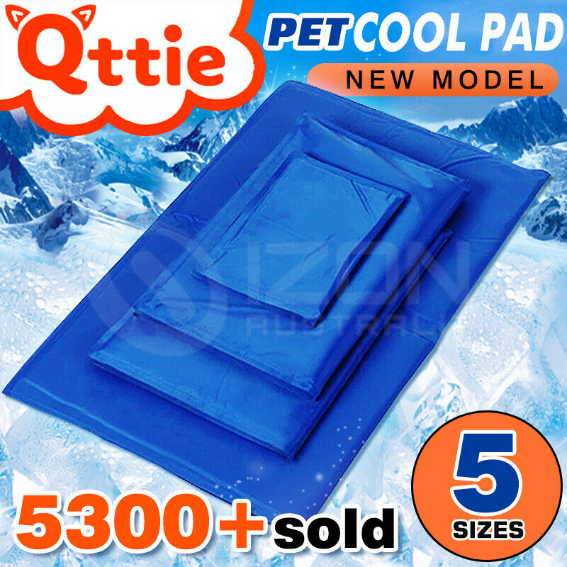 pet cool gel mat dog cat bed non toxic cooling dog summer. Black Bedroom Furniture Sets. Home Design Ideas