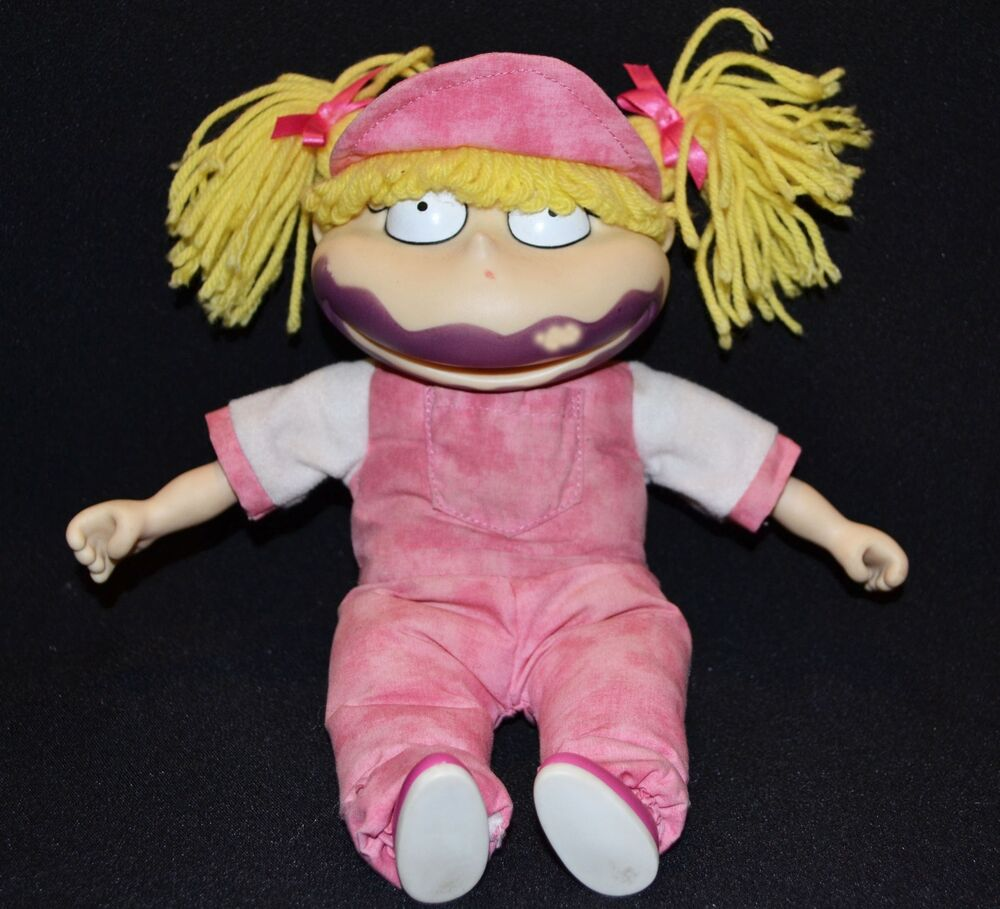 Vintage Rugrats Angelica Pickles Popsicle Face Plush Doll