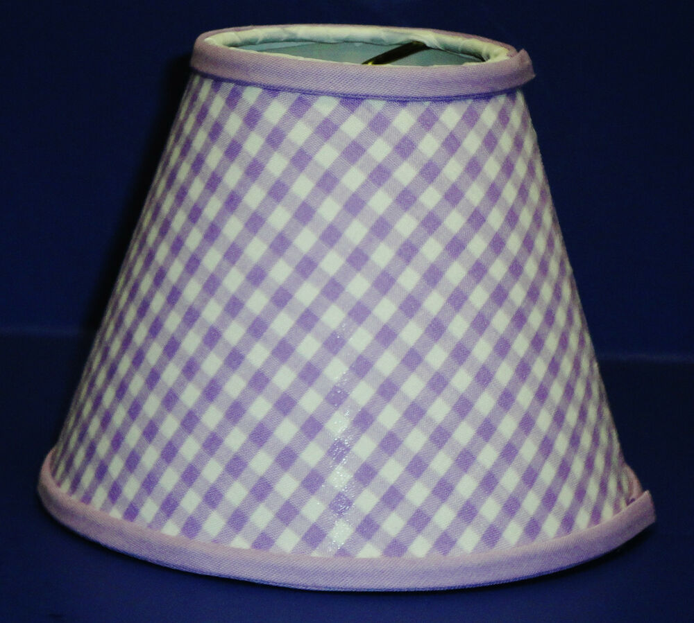 Chandelier Gingham Shade Blue Green Pink Purple Red Yellow ...