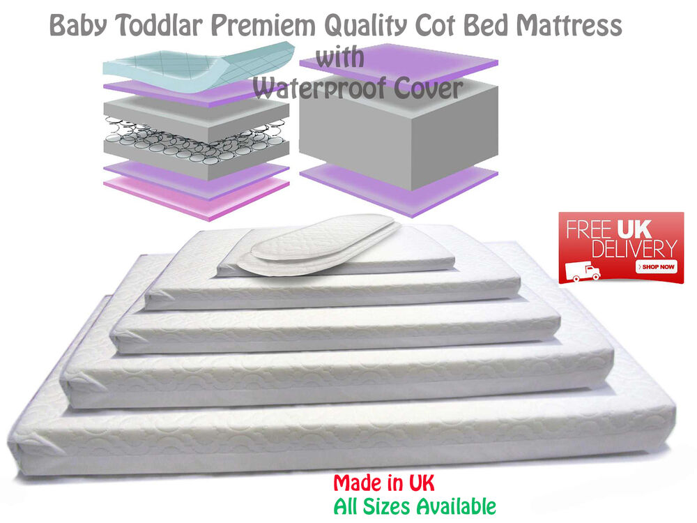 new baby cotbed sprung mattress fully breathable waterproof cover all sizes ebay