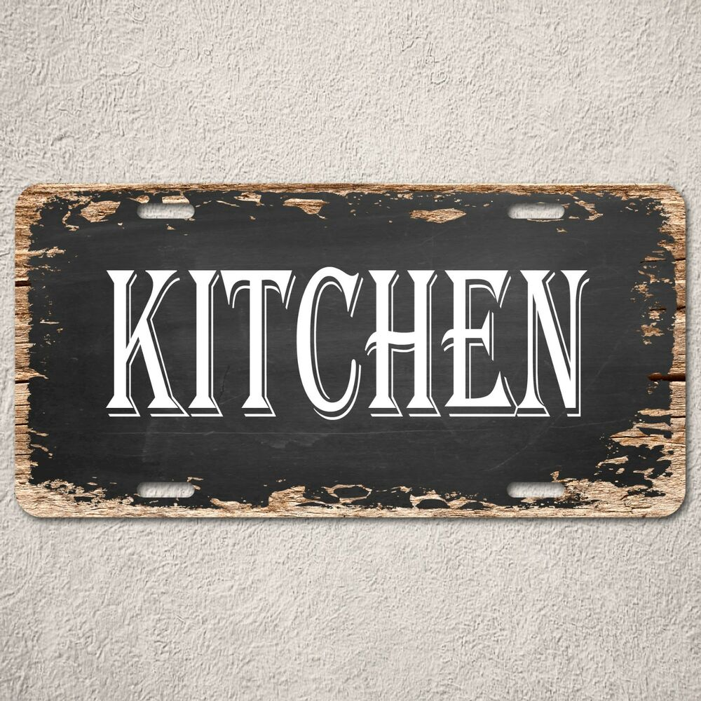 Lp kitchen sign rustic auto license plate beach bar