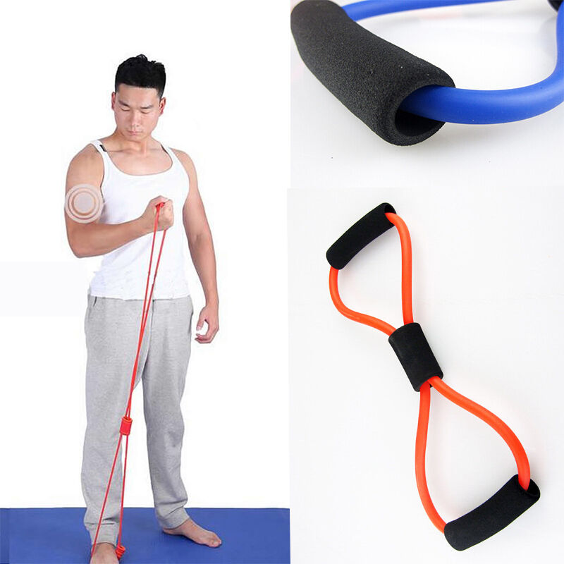 Resistance Training Bands Rope Tube Workout Exercise For