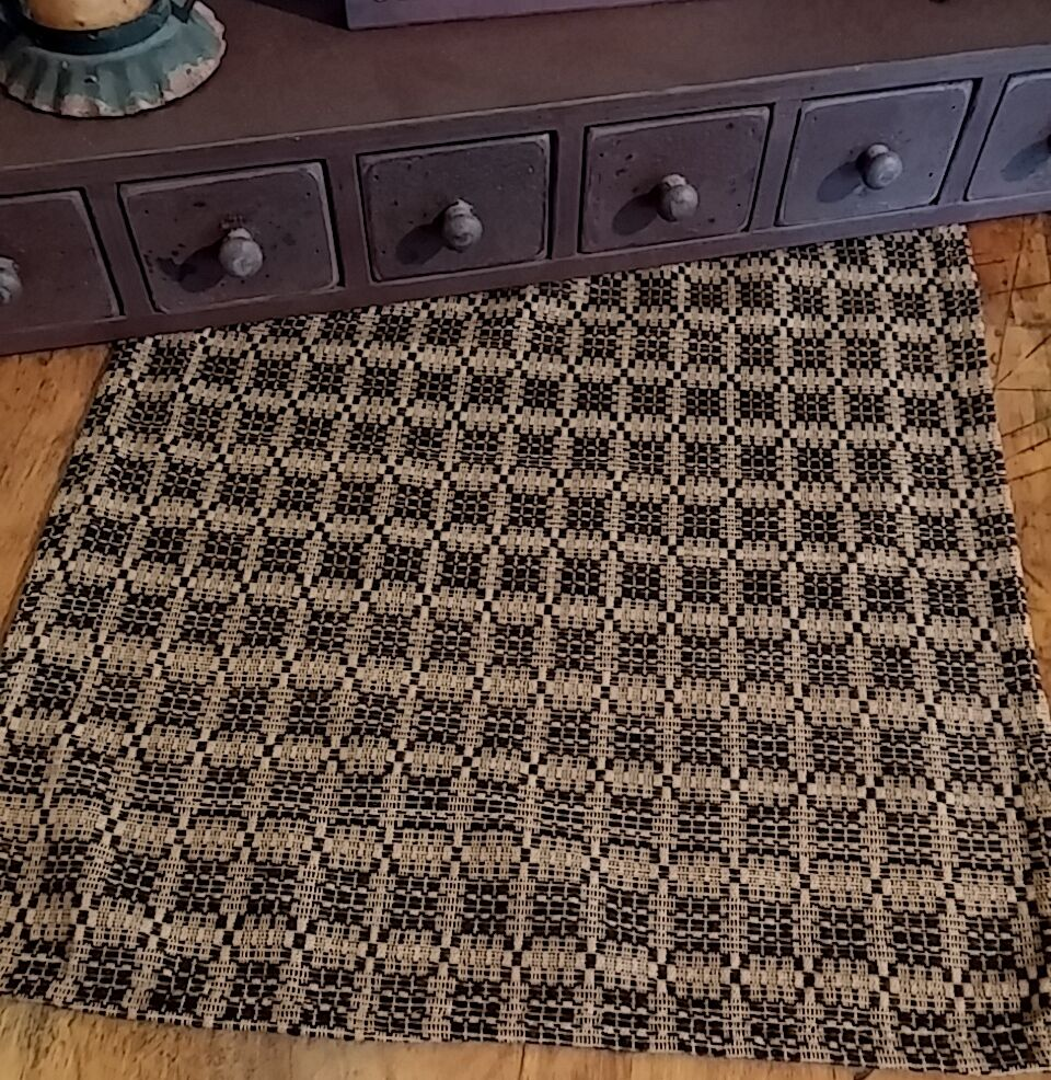 Primitive Colonial Preachers Knot Long Woven Table Runner  : s l1000 from www.ebay.com size 960 x 986 jpeg 268kB