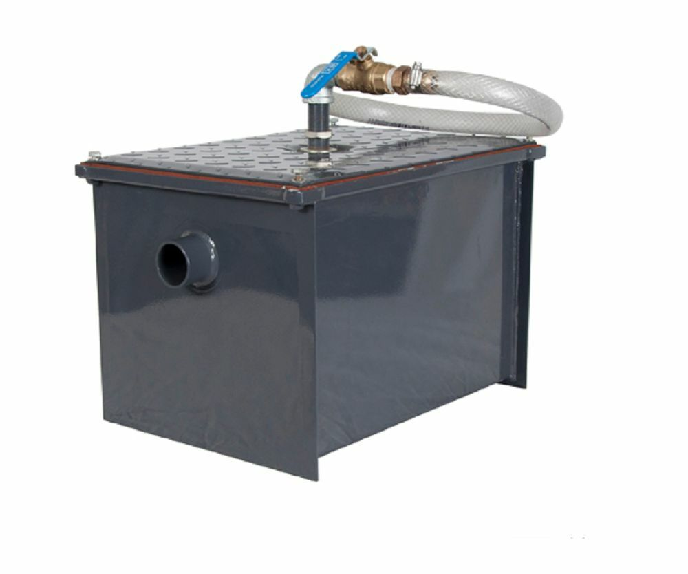 Industrial Kitchen Grease Trap: Steel Grease Interceptor, Holds 8 Lbs Of Grease