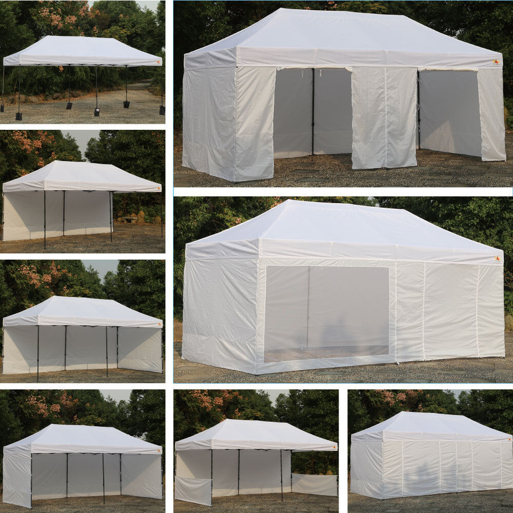 Abccanopy White 10 X 20 Easy Pop Up Canopy Party Tent W 9