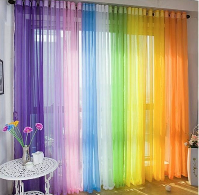Voile Sheer Curtain Customise Bedroom Window Home DIY Children Kids ...