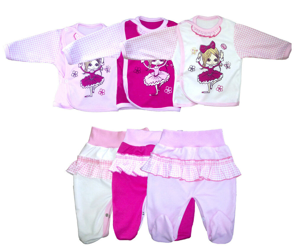 baby set wickelshirt mit hose ballerina strampler neu m dchen ebay. Black Bedroom Furniture Sets. Home Design Ideas