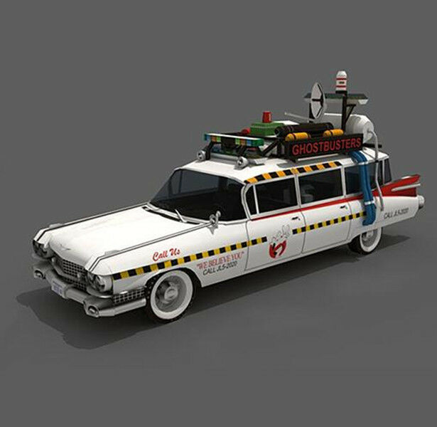 ghostbusters ecto 1a hot wheels car model car cadillac