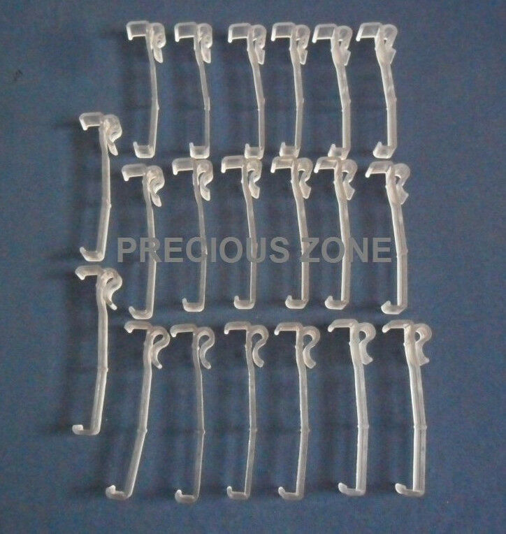 20 Pcs 3 1 2 Inch Valance Clips For Horizontal Faux Wood