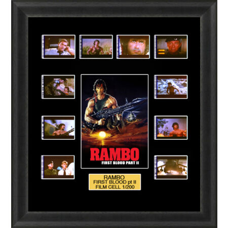 img-Rambo First Blood Part 2 1985 Framed 35mm Film Cell Memorabilia Filmcells Movie