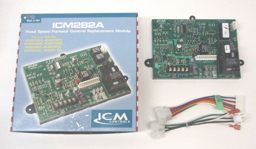Icm282a Furnace Control Board For Carrier Bryant Hk42fz