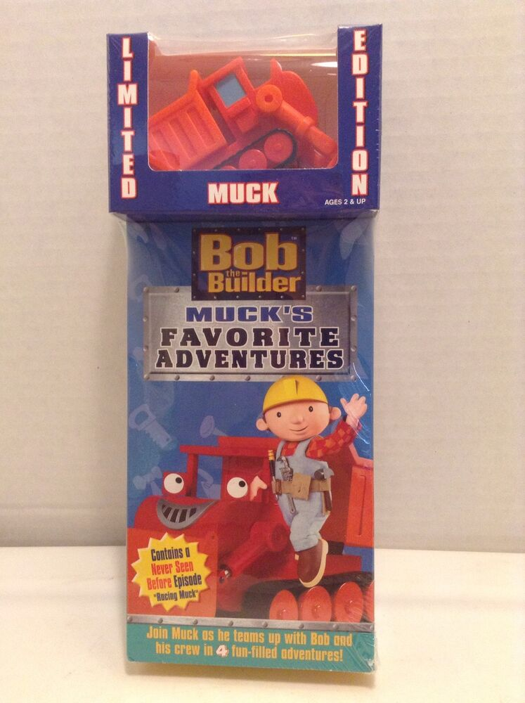 Where Can I Sell My Vhs Tapes >> New Limited Edition Bob The Builder Muck's Favorite Adventures VHS With Muck Toy 45986241313 | eBay