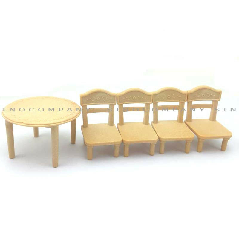 Gift toy sylvanian families table chair for dining room furniture dollhouse ebay - Dollhouse dining room furniture ...