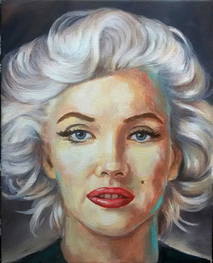 jannys art marilyn modern art painting portrait kunst acryl leinwand ebay. Black Bedroom Furniture Sets. Home Design Ideas