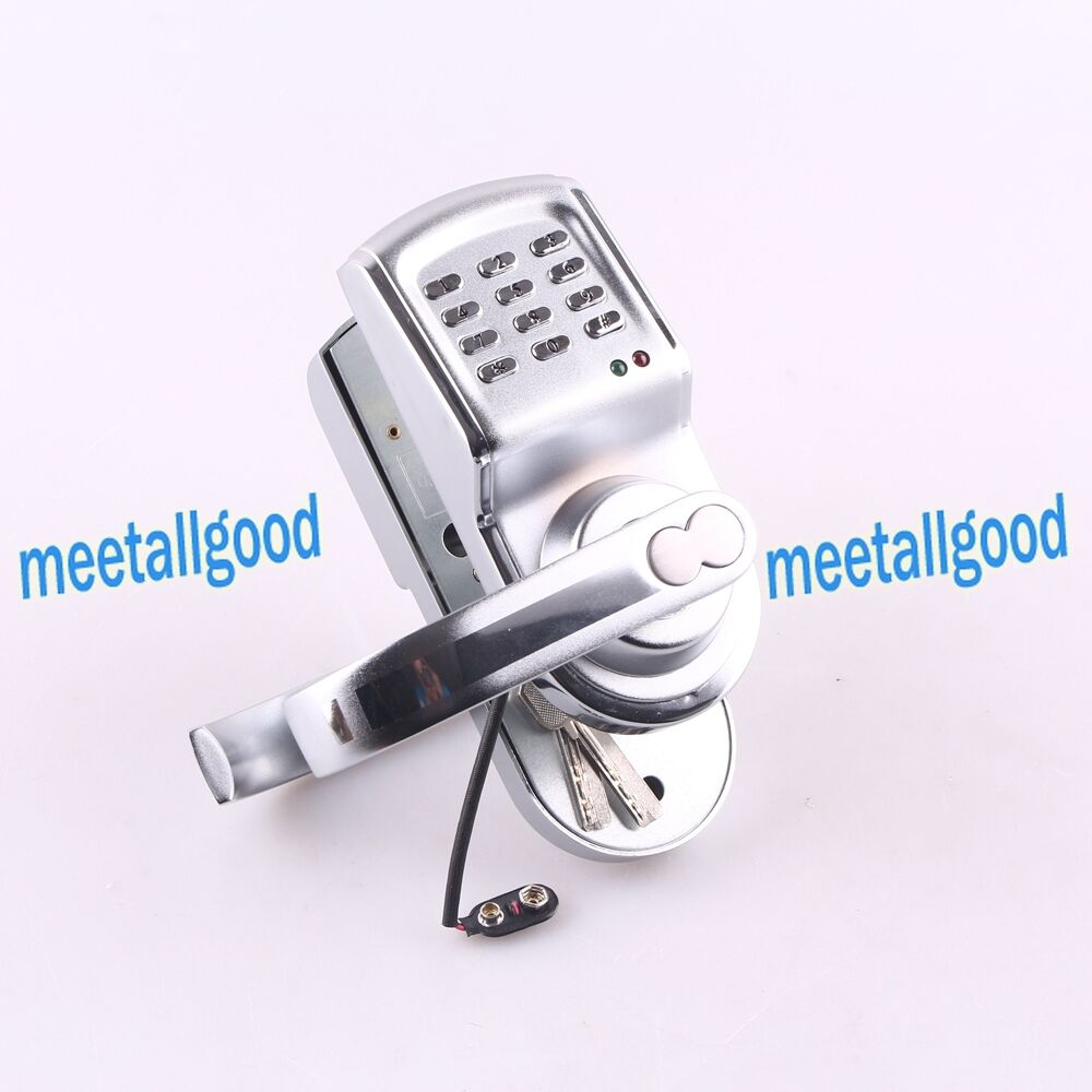 keyless electronic code password digital keypad security entry door locks new ebay. Black Bedroom Furniture Sets. Home Design Ideas