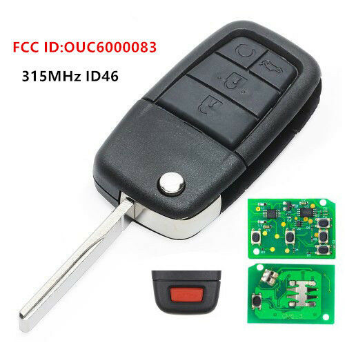 New Oem Folding Remote Key Fob 4 1 Button 315mhz Id46 For