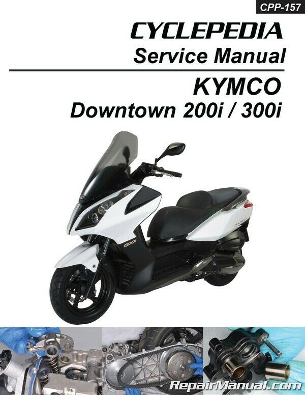 kymco downtown 300i 200i scooter repair manual in print ebay. Black Bedroom Furniture Sets. Home Design Ideas