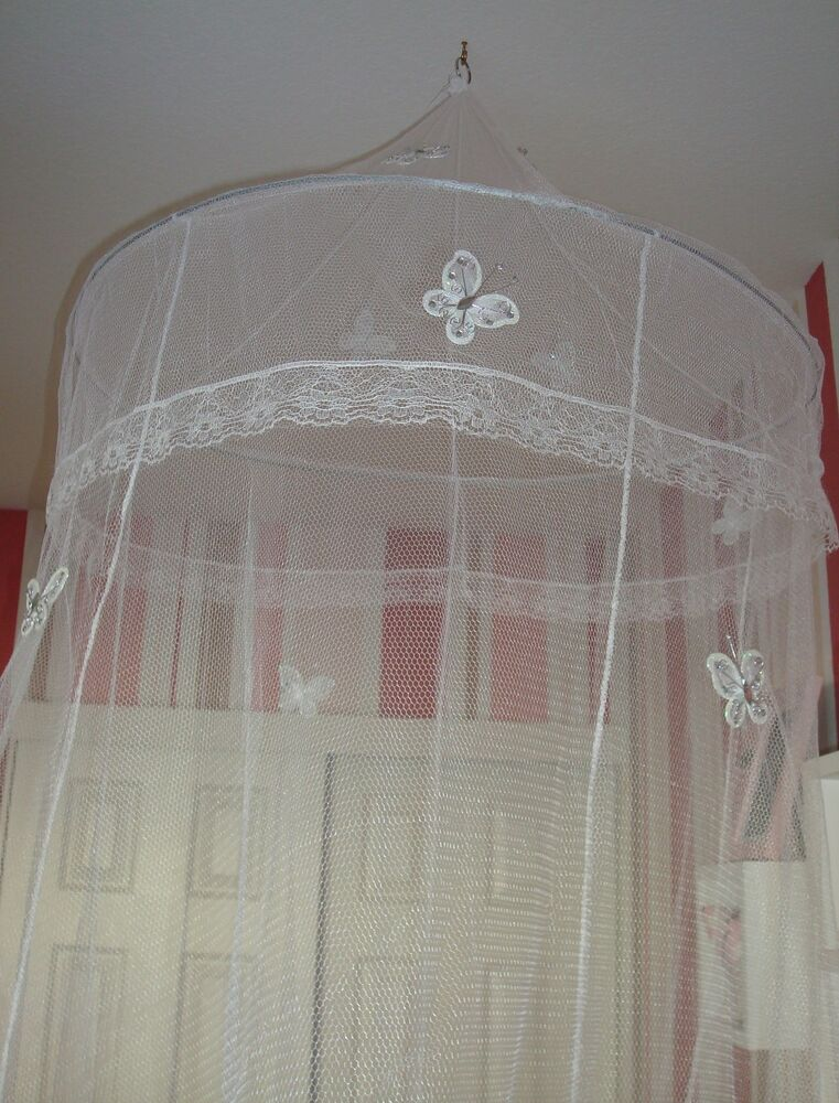Princess Bed Canopy Mosquito Net Mesh Hoop Glitter Wire