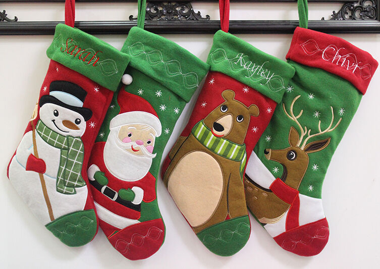 Personalized name 3D Christmas stockings holiday ...